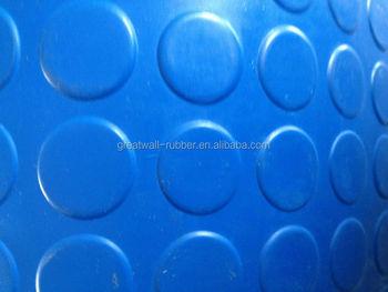 SBR NR CR EPDM Anti Slip Flooring Circle Round Button Rubber