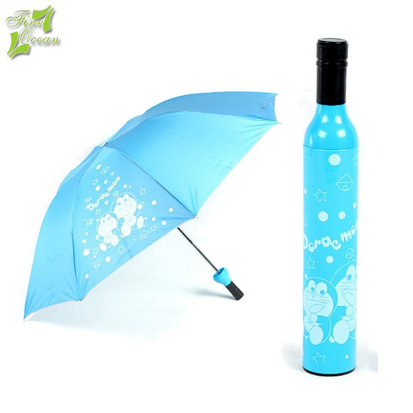 wholesale cheap promotional customized drink shape deco wine bottle umbrella