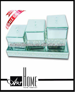 Hot sale green bathroom accessories set 1105-006