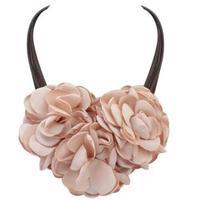 Fashion Statement Fabrics Flowers Choker Necklace For Women