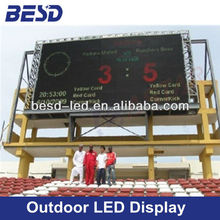 P20 Full Color LED outdoor advertising screen, Football stadium led display, led scoreboard