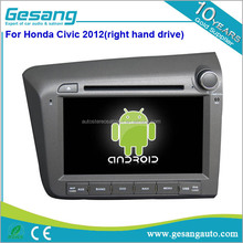 Android 6.0 touch sreen car dvd player with GPS Navigation fit for Honda Civic 2012 right hand drive