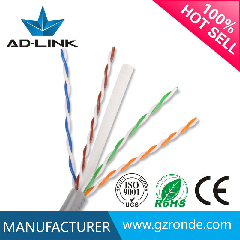 PVC jacket lan cable utp cat 6 Chinese suppiler