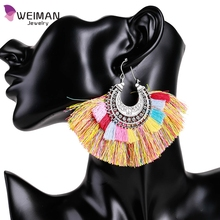 Antique latest design bright colour earrings wholesale accessories big custom silver earrings