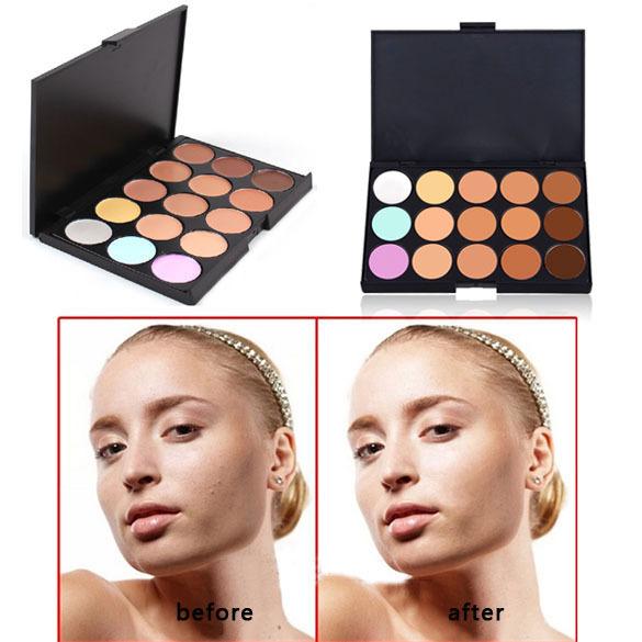 Hot Sale Professional 15 Colors Concealer Contour Makeup Palette Face Cream Cosmetic makep contouring beauty maquillaje