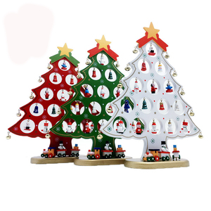 FQ brand high quality wholesale wooden tree suppliers christmas ornament