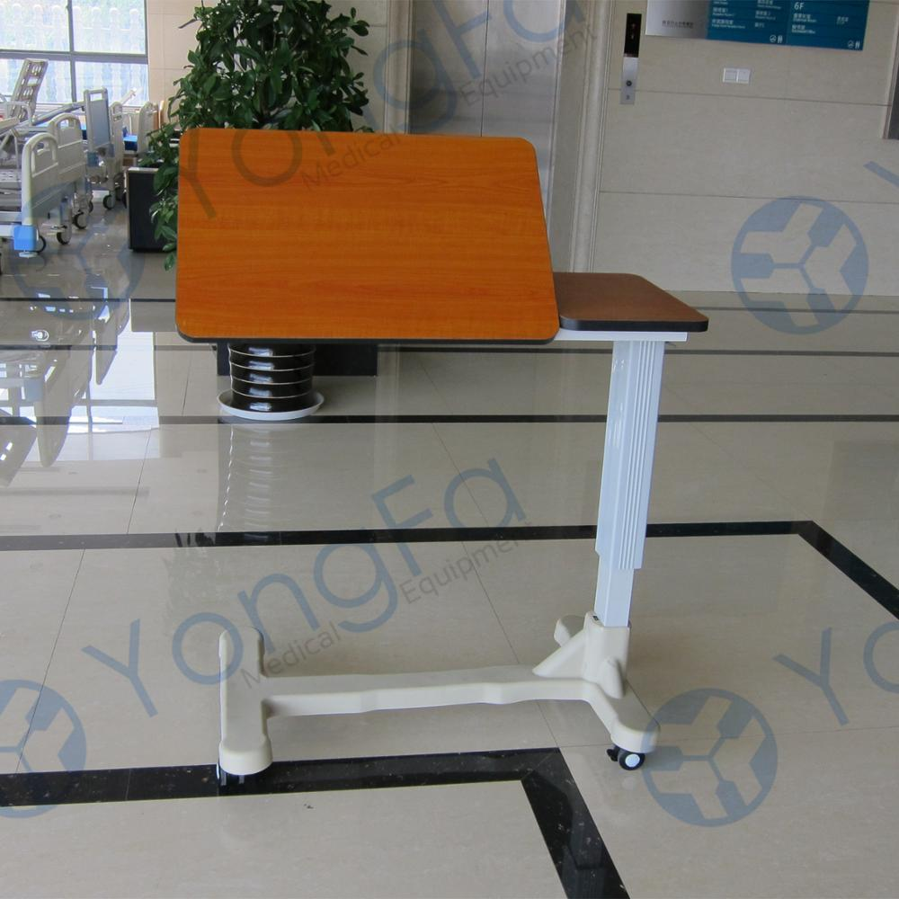 YFT-004 Hospital Dining Bed Side Table With Adjustable Spring Lifting