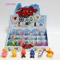 Promotional wind up animal vending machine capsule toys