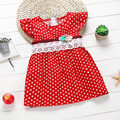 1 4 Years Baby Dress New Children s Clothing Korean Girls Dresses Dot Lace Sleeveless Summer