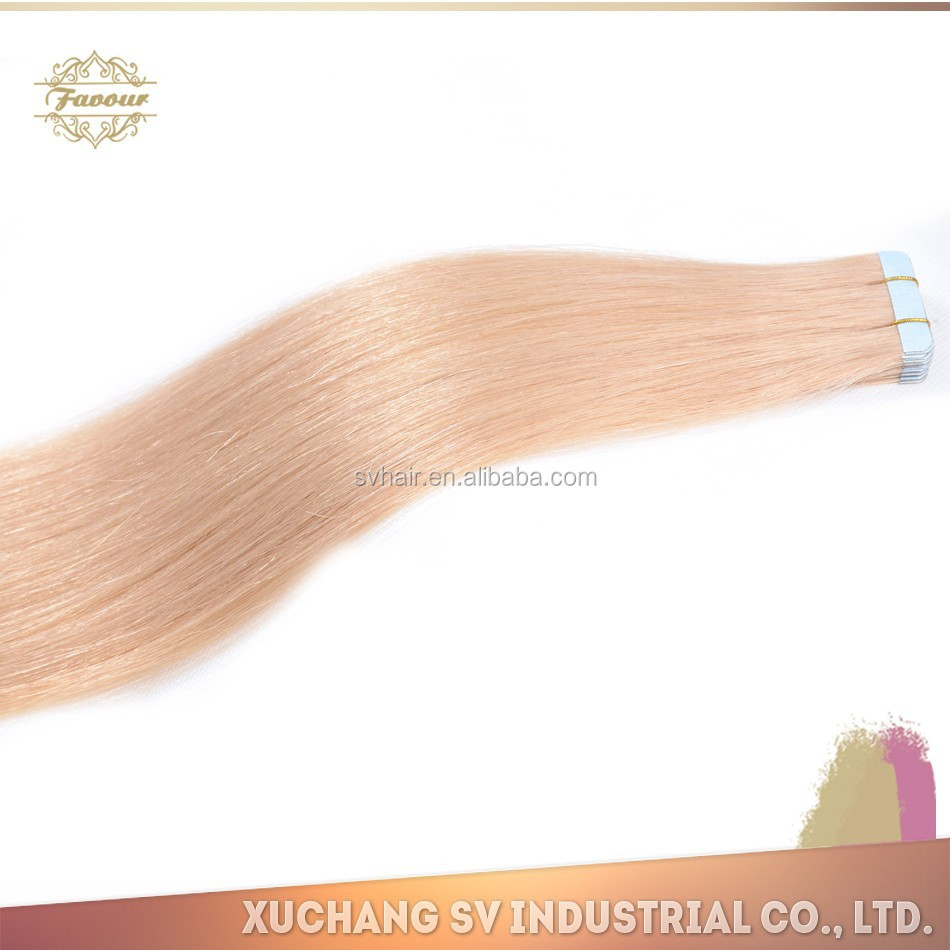 Fashion hair extension,double tape human hair extension. 40pcs per set, 100g per picece