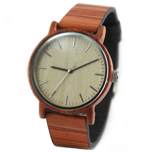 2017 fashion bamboo wooden watches from manufacturer for men and ladies