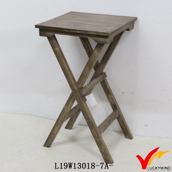Nice Vintage Farm Coffee Small Wooden Folding Table