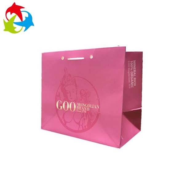 Custom Print Kraft Gift Paper Bag With Handle