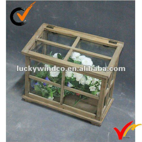 Luckywind Rustic wood garden greenhouse