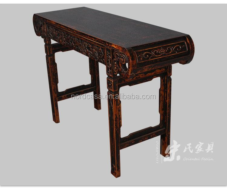 Reproduction Elm Wood Vintage Chinese Classical Altar Table