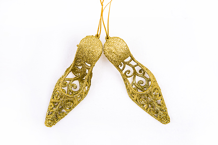 New product simple design Gold high heels gift pendant ornament for christmas in many style
