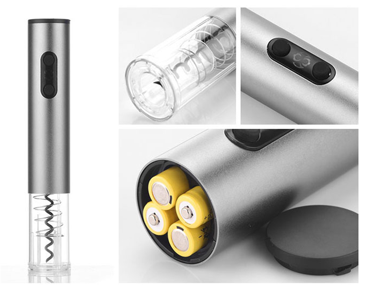 High quality Dry battery Automatic cordless electric wine bottle opener