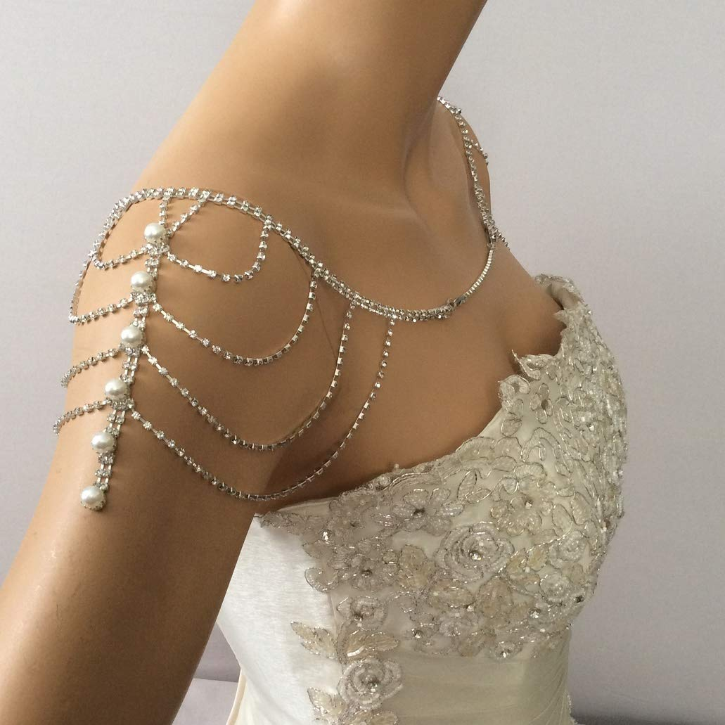 Shoulder Necklace Wedding Shoulder Jewelry Wedding Dress for Shoulder Bridal Shoulder Necklace Body Accessory For Wedding