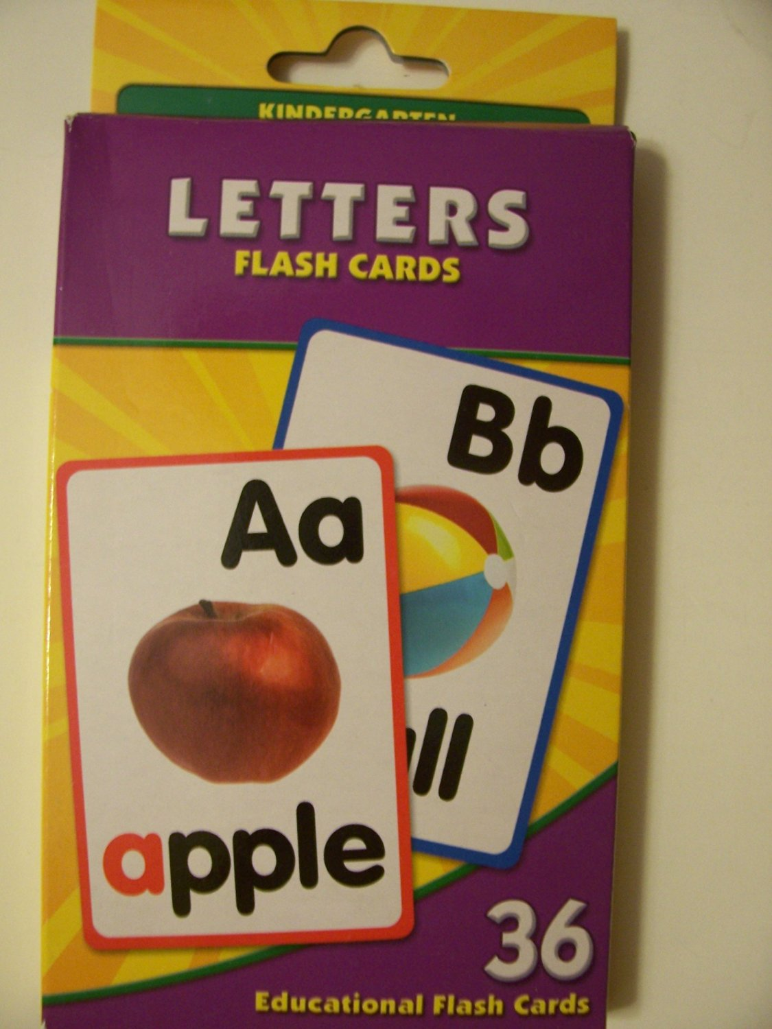 Educational Flash Cards ~ Letters (36 Flash Cards; Kindergarten)