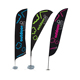 President Trump 2020 custom Outdoor promotional advertising aluminum beach feather flag banners