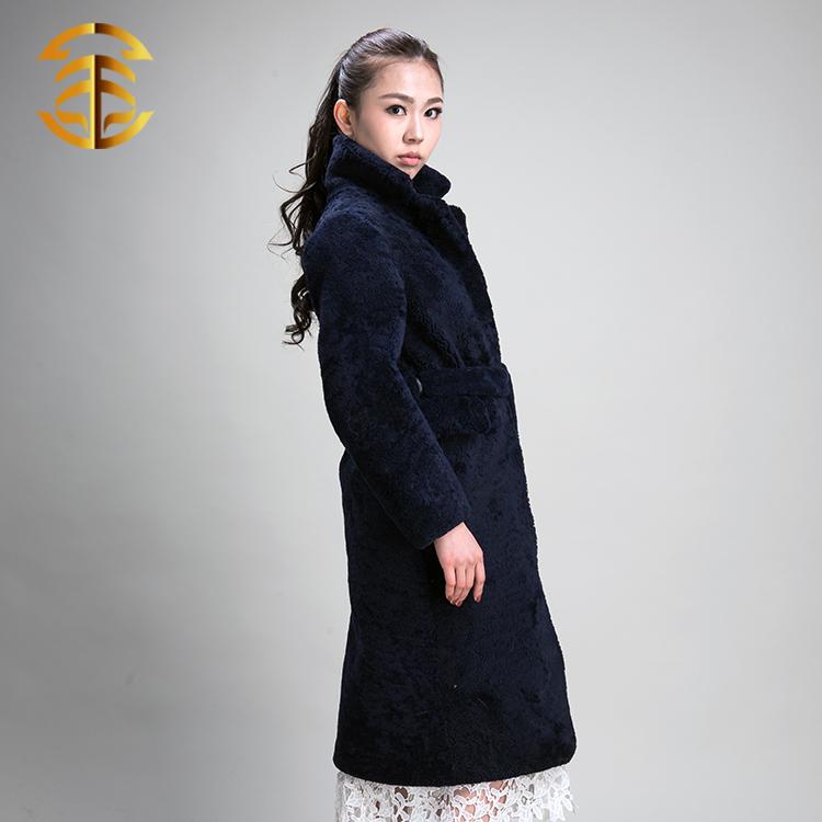 Ladies Fashion Long Sheepskin Coat Women Sheepskin Coat - Buy ...