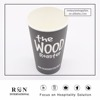 12oz black color disposable custom logo printed hot drinking single wall paper cup with lid