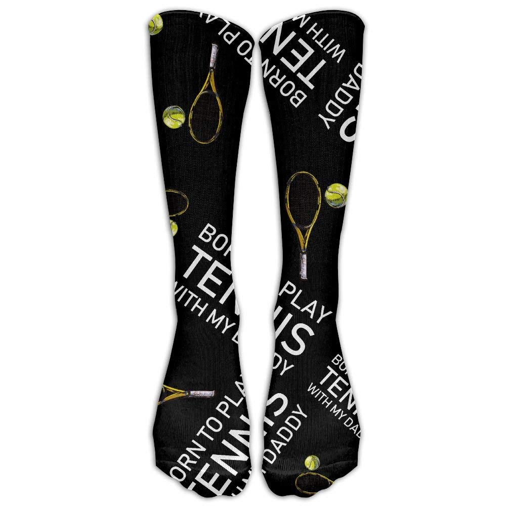 15960f045 Get Quotations · BORN TO PLAY TENNIS WITH MY DADDY Lover Women Warm Knee  High Long Socks Over The
