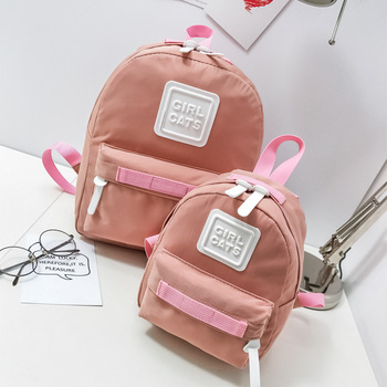 Lightweight Preppy style Waterproof Canvas School College Parent-child backpack Girls Boys child kids School bag