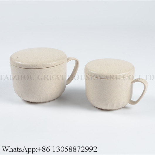 Bioddergradable Eco-Friendly Creative Wheat Straw Couple Coffee Cup Breakfast Milk Cup Mug Made from Wheat