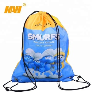 sublimation 210D nylon polyester promotional custom print kids drawstring bag with custom logo