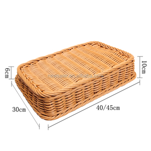 High quality on side PE coated direct food contact pp rattan storage basket