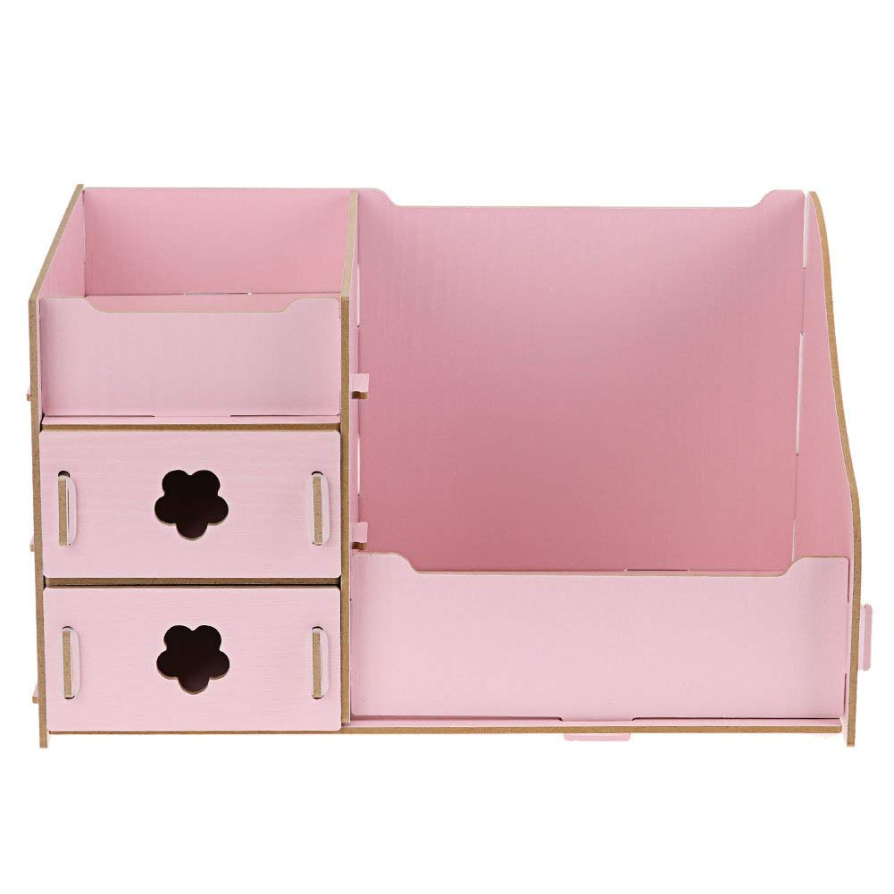 Buy Yeslucky Wooden Storage Box Jewelry Container Makeup Organizer Case Handmade Diy Assembly Cosmetic Organizer Wood Box For Office Pink In Cheap Price On Alibaba Com