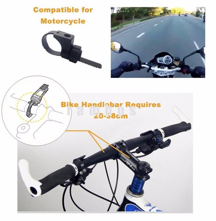 Universal Clip Grip Bike Handlebar Holder With 3m Tape Cell Phone
