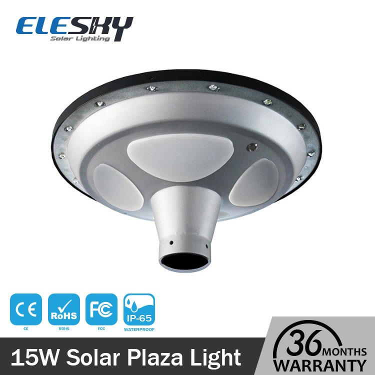 IP65 outdoor ufo smart solar powered led plaza light for street