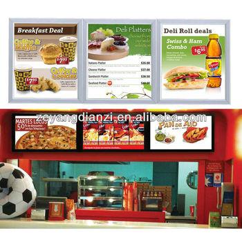Design Led Panel Wall Mount Backlit Diy Restaurant Menu