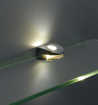 clip op led glas plank verlichting