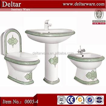 Types Of Water Closet In European Market Bathroom Set Sanitary Ware Chaozhou Toilet Price