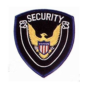 EAGLE CENTER SECURITY Guard Officer Shoulder Patch Badge Insignia Emblem Blue Border (2 INCLUDED, PAIR !)