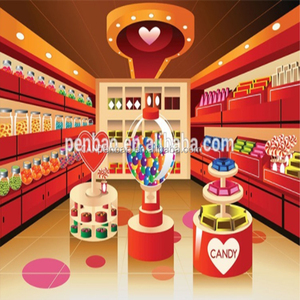 Customized design retail sweet cotton candy kiosk for sale