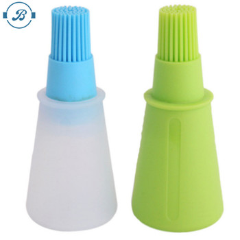 Amazon hot sale Silicone Honey / Oil Brush with Bottle for Cooking Baking Pancake BBQ Tools Oil sprays barbacoa Storage Bottles