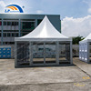 5x5m Outdoor marquee pagoda tent with glass wall and glass door for event promotion