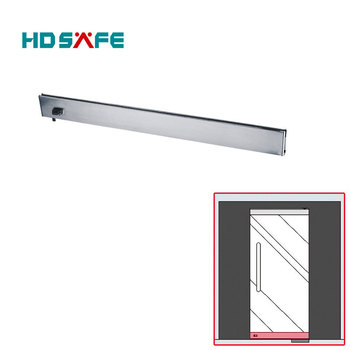 stainless steel glass door patch fitting bottom rail with lock