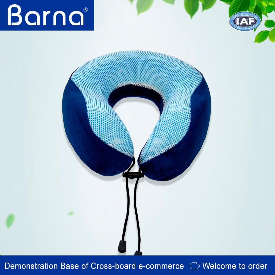 Personalized memory foam neck support travel cushion pillow