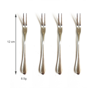 Stainless steel two prong fork