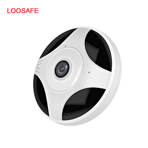 IP Camera 2MP 360 Camera Indoor Panoramic with Audio Motion Detection Alarm Monitor at Night for Home Security