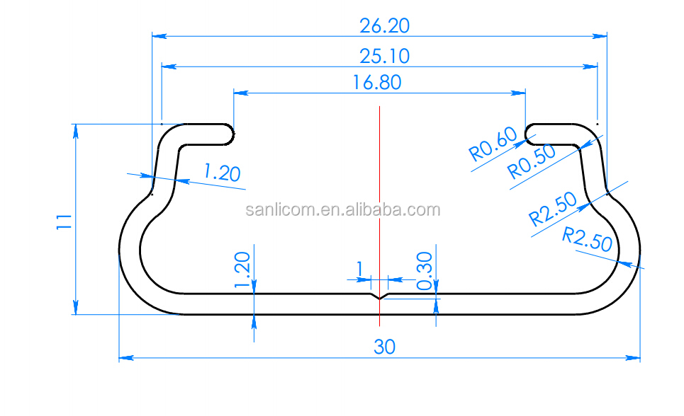 Aluminum And Galvanized Steel Film Lock Channel And Spring