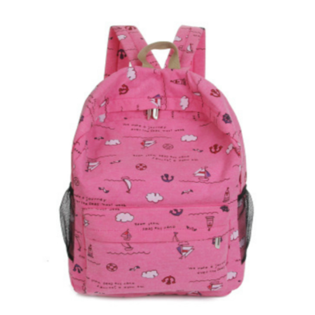 Osgoodway Korean Style Fashion Wholesale Canvas Bag School Rucksack Backpack for School College