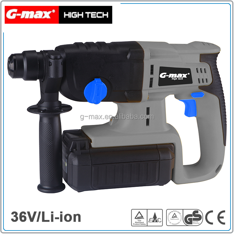 G-max 36V Cordless Rotary Hammer With 2.6A Lithium Battery GT13070