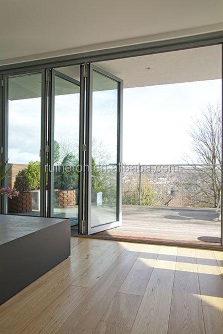 vidrio de aluminio balcn puertas exteriores plegables