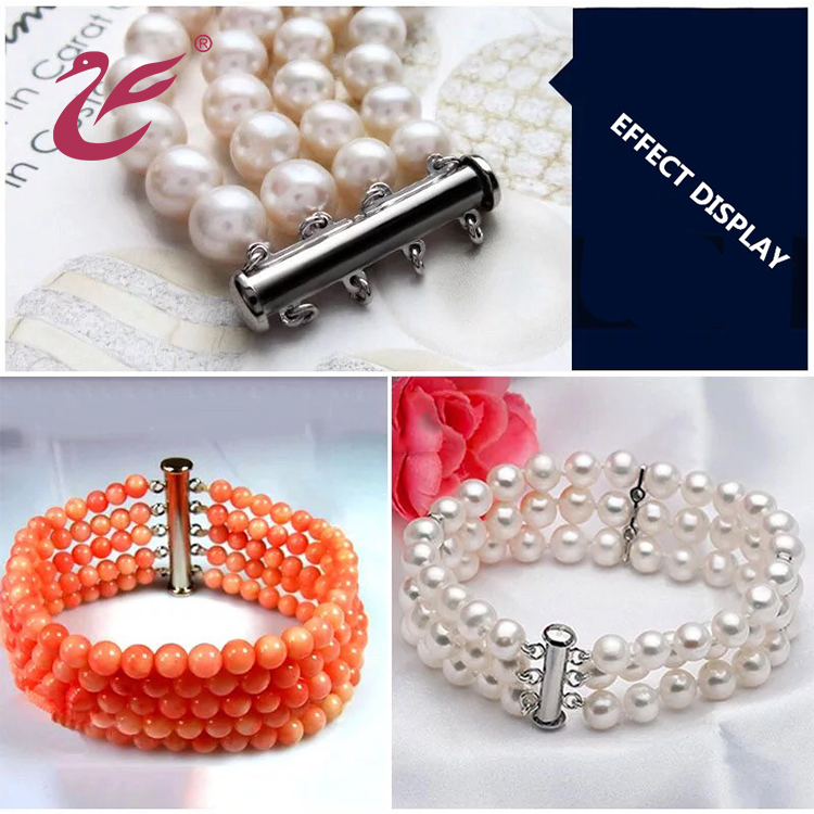 Valentine's day 2019 High quality 925 sterling silver custom jewelry clasp for pearl bracelet